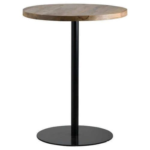 RUSTIC INDUSTRIAL STYLE TALL BAR KITCHEN TABLE WITH HARDWOOD TOP (H19935)